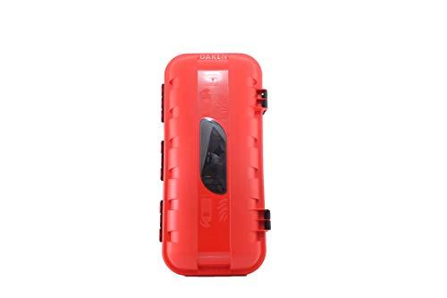 Feuerlöscher Schutzbox/Schutzschrank plombierbar aus Kunststoff mit Sichtfenster für 6 kg oder 6 Liter ABC Pulver-/Schaumlöscher geeignet + GRATIS Andris® Feuerlöscher Symbolaufkleber