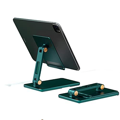 LAHappy Soporte para Tablet Plegable, Soporte para Teléfono Móvil, con Base Antideslizante para iPad, iPhone,Samsung, Kindle 4-12.9',Verde