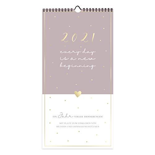 Kalender Planer für Zwei 2021 zum Selbstgestalten | Geschenkidee für Freundin oder Freund I Paarplaner Fotokalender, Bastelkalender, Wandkalender mit 3 Spalten | zum Basteln und Beschriften