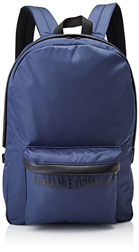 Armani Exchange Backpack, Mochila. para Hombre, Bluette, Einheitsgröße