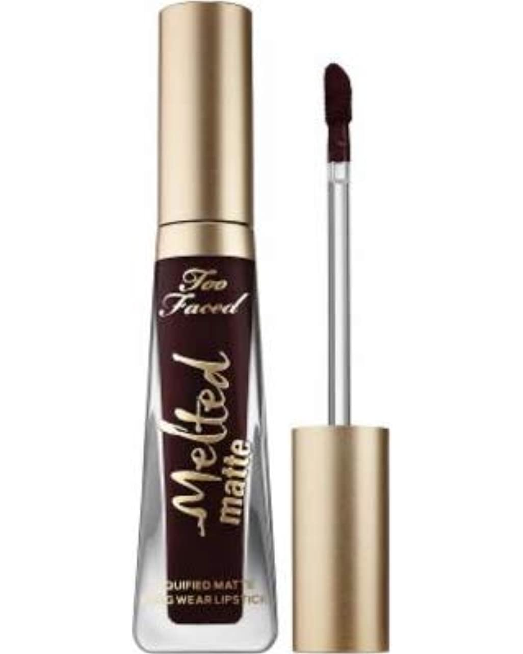 どこでも抑圧する一時的Too Faced Melted Matte Liquified Long Wear Matte Lipstick - Evil Twin