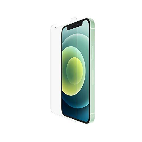 Belkin iPhone 12 Pro / iPhone 12 Bildschirmschutz TemperedGlass antimikrobiell (hochentwickelter Schutz, der Bakterien auf dem Bildschirm um bis zu 99 prozent reduziert)