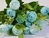 Ramo de Novia Ramo de Rosas Artificiales Ramo de Boda para Damas de Honor Novia Flores de Boda Ramo de Novia Accesorios de Matrimonio (Color: Azul) Sombreros