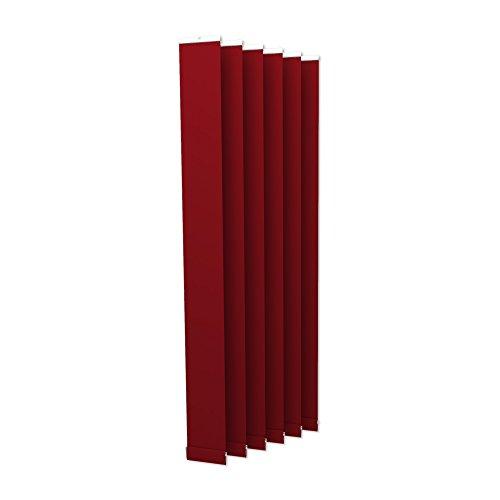 Victoria M. Lamellenvorhang, Jalousie Isabella - I-Form, leicht lichtdurchlässig - 12,7 x 250 cm, rot | 6er Pack