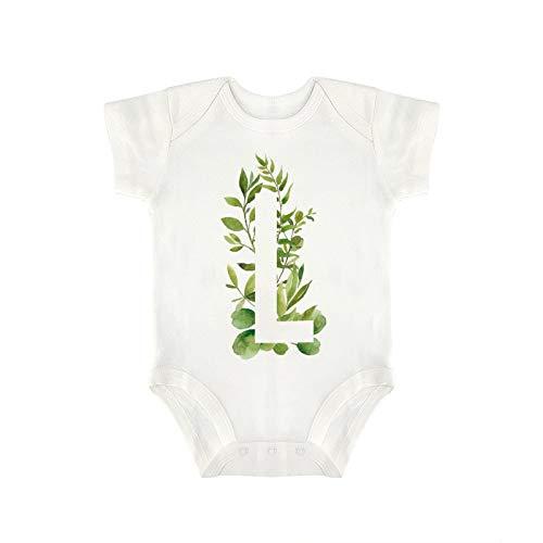 DKISEE Milu057 - Body de manga corta para bebés con letras