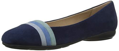 Geox Mädchen D Annytah a Geschlossene Ballerinas, Blau (Blue/Avio C0226), 35 EU