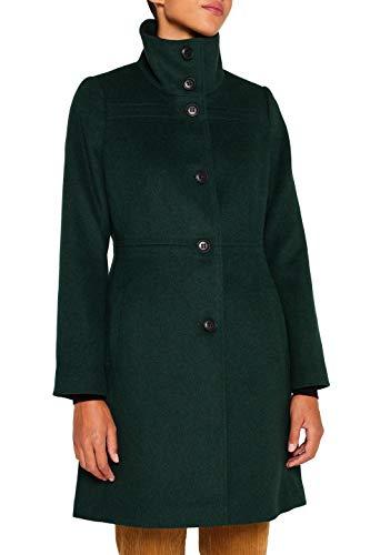 ESPRIT Collection Damen 099EO1G069 Mantel, Grün (Bottle Green 385), Large (Herstellergröße: L)