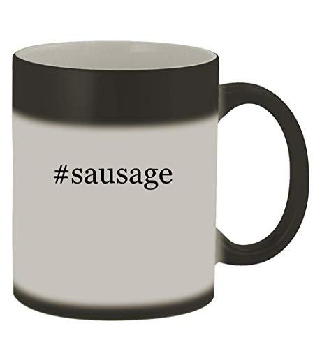 #sausage - 11oz Hashtag Magic Color Changing Mug, Matte Black