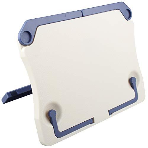 Futheda Leggio portatile, pieghevole, supporto da tavolo, multifunzionale, per libri, documenti, pianoforte, chitarra, ukulele, ecc., colore beige