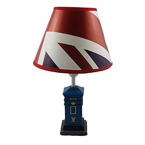 ZY Cartoon LED brievenbus bureaulamp retro hars lamp lichaam creatieve persoonlijkheid stoffen kap warm licht binnenverlichting woonkamer slaapkamer studie