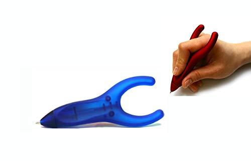 PenAgain Ergosof - Kugelschreiber mit ergonomisch rutschfestem Soft-Oberfläche-Griff (blau (gummiert))