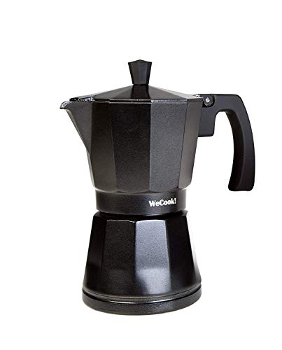 WECOOK cafetera Italiana Inducción, Aluminio,12 Tazas, Negro, 1 ...