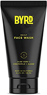 BYRD Daily Face Wash - Aloe Vera, Chamomile, Algae, Treats All Skin Types, Nutrient-Rich, Coconut Derived, Mineral Oil Free, Paraben Free, Phthalate Free, Sulfate Free, Cruelty Free, 6.5 Oz