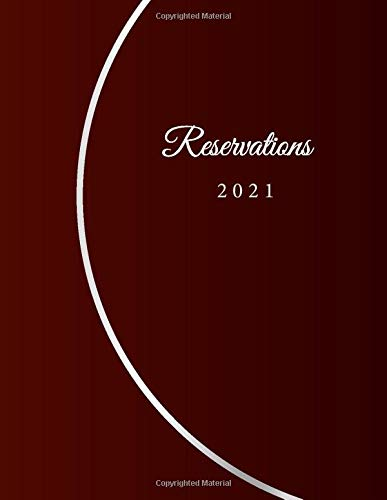 Reservations 2020: Reservation Book for restaurants, bistros and hotels | 370 pages - 1 day=1 page | The appointment calendar for your reservations in ... cover | Cover Design - red white bow effect