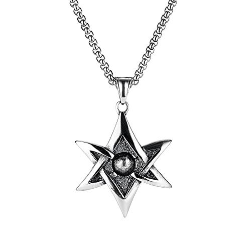 Necklace,Men Necklace Creative Pendant Personality Long Chain Fashion Accessories (Silver 70CM)