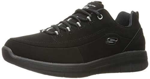 Skechers Sport Women's S Ynergy 2.0-Side-Step Fashion Sneaker, Black, 7 M US