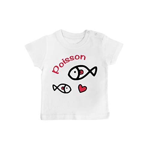 Inconnu – baby-T-shirt met sterrenbeeld, vismotief