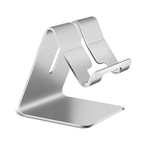 Tree-es-Life Soporte universal para teléfono de aleación de aluminio, soporte de montaje en escritorio, soporte antideslizante para teléfono móvil para tableta, soporte de soporte para teléfono, plata