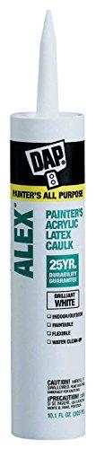 DAP Alex Painter's Acrylic Latex Caulk, White, 10.1 fl oz, 18670