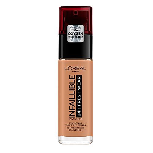 L'Oréal Paris - Fond de Teint Fluide Infaillible 24h Fresh Wear - Tous Types de Peaux - Teinte : Caramel (320) - 30 ml