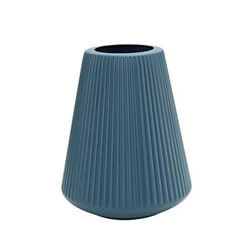 Contenitore di accumulo di bottiglia in ceramica in ceramica in vaso di origami in plastica hyindoor vaso (Colore : 24 Blue)