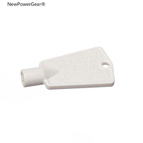 NewPowerGear Freezer Door Lock Key Replacement For FGVU21F8QFB FGVU21F8QTA FGVU21F8QWA FKFH21F7HWA FKFH21F7HWB FKFH21F7HWC FKFH21F7HWD FKFH21F7HWE