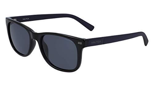 Nautica Mens N3641SP Sunglasses, Black, One Size