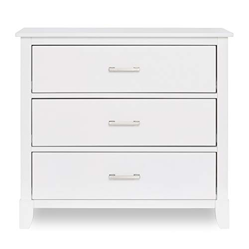 Dream on Me Universal 3 Drawers Chest | Kids Bedroom Dresser | Three Drawers Dresser Mid Century Modern, White