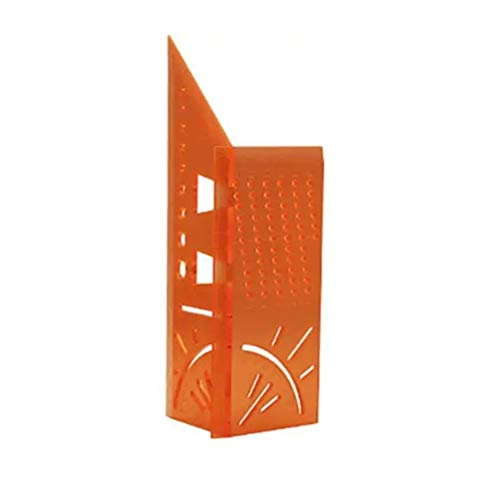 0-90 Grad Messer Loch Ritzen Spur 3D Mitre Winkelmesslineal Quadratmeter Holzverarbeitung Messen Werkzeug Linie Hohe Präzisionsmesswerkzeug (Farbe : Transparent red)