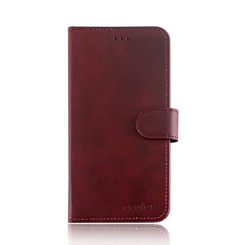 INSOLKIDON Kompatibel mit Blackview P6000 Hülle Case Leder Rückseite Handy Schutz Schale Ganzkörper Schutz Brieftasche Kartenpaket Schutzhülle Flip Ledertasche Mattierte Hülle (Braun)