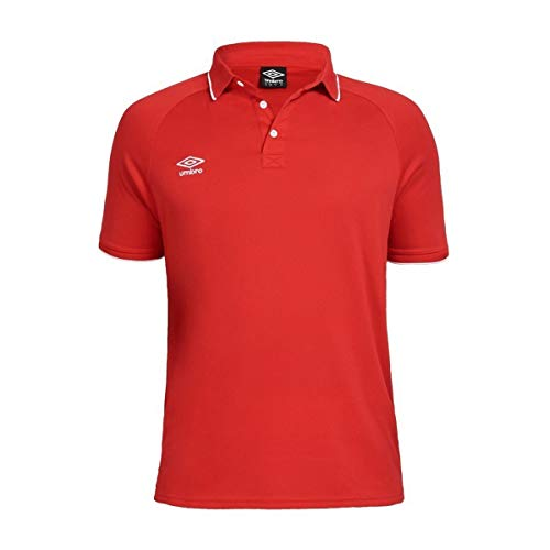 UMBRO Torch Camiseta Polo de Tenis, Hombre, Rojo, L