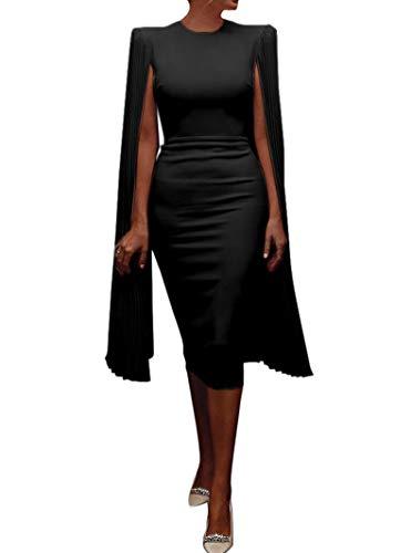 SIUNRIYO Damen Etuikleid Elegant Business Bleistiftkleid mit Einzigartige Ärmel Festliches Cocktail Abendkleid Business Kleider