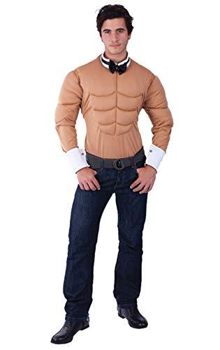 ORION COSTUMES Disfraz de Bailarín Exótico Pecho de Hombre Musculoso Grosero Despedida de Soltero para Hombres
