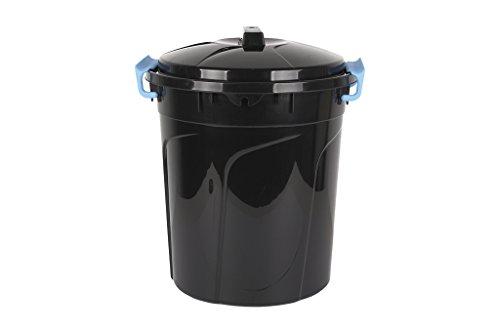Cubo de Basura | Color Negro | Capacidad 21 L | Con Asas de Cierre Incorporadas | Cubo de Basura con Tapa