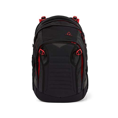 Satch match Schulrucksack - ergonomisch, erweiterbar auf 35 Liter, extra Fronttasche - Fire Phantom - Black