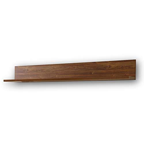 BRÜSSEL langes Wandboard in dunkler Akazie Optik - rustikales & vielseitig einsetzbares Wandregal - 188 x 25 x 27 cm (B/H/T)