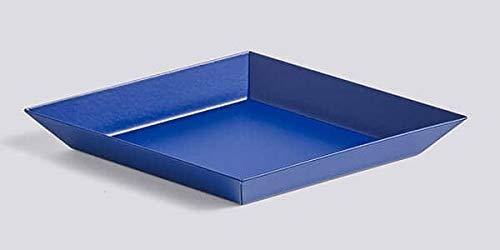 mds Kaleido, Plateaux en Acier laqué, Existe en Cinq astucieuses Formes géométriques pour des usages Multiples - Kaleido XS - 19 x 11 cm, Bleu Royal