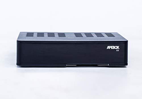 Apebox S2 Full HD Satelliten Receiver (1080p, HDTV, H.265, 1x DVB-S2, 2X USB2.0, HDMI, LAN, Kartenleser, YouTube, DLNA, Mobile APP) Schwarz