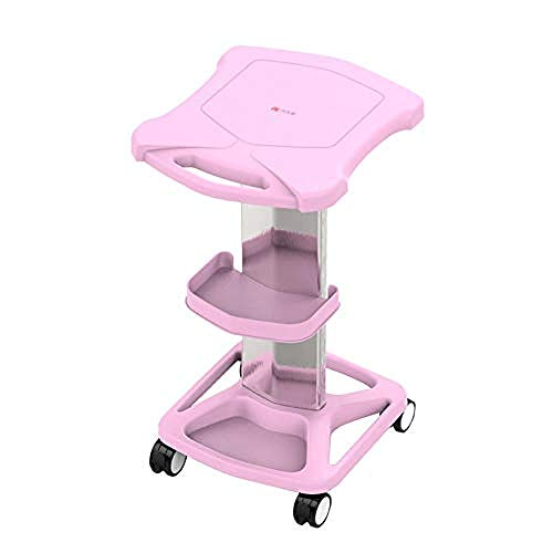 ZRABCD Cart Trolley Service Tool Dental Experiment,Band Tray Casters Drawer Stainless Steel Multifunction Trolley,for Beauty Salon Barbershop Practical/Pink / 38×46×73cm