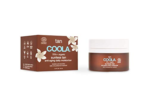 COOLA Organic Sunless Tan Moisturizer, Anti-Aging Self Tan for Daily Use, 1.5 Fl Oz