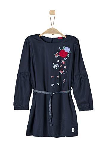 s.Oliver Mädchen 53.808.82.2840 Kleid, Blau (Dark Blue 5940), 116