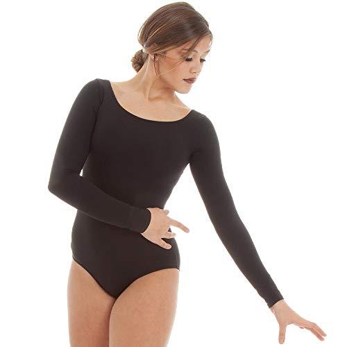 Dance Basix Long Sleeve Leotard for Women Black