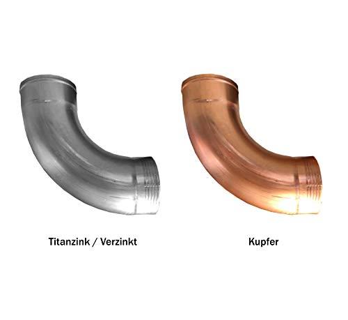 Regenrohrbogen 85° Titanzink in den Größen 60, 76, 80, 87 und 100 mm (100 mm)