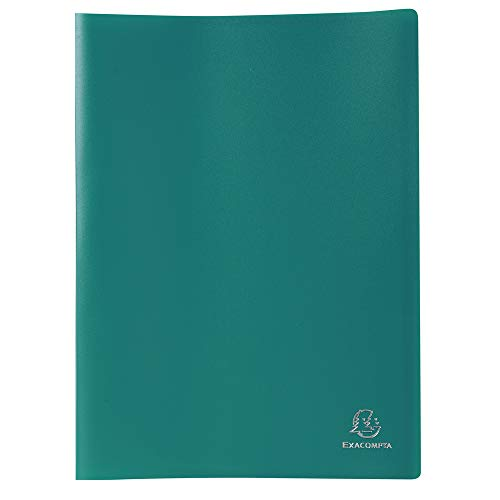 Exacompta 85103E - Carpeta de 100 fundas PVC, A4, color verde ⭐