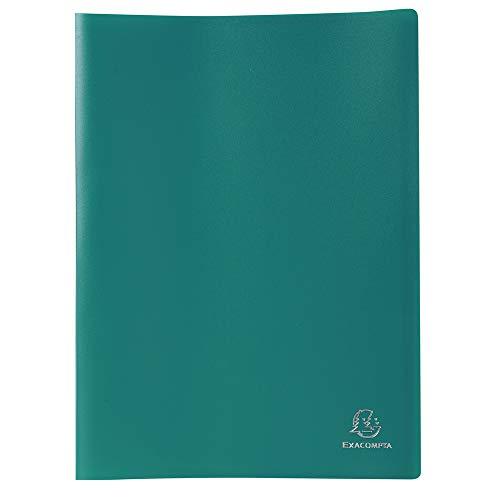 Exacompta 85103E - Carpeta de 100 fundas PVC, A4, color verde