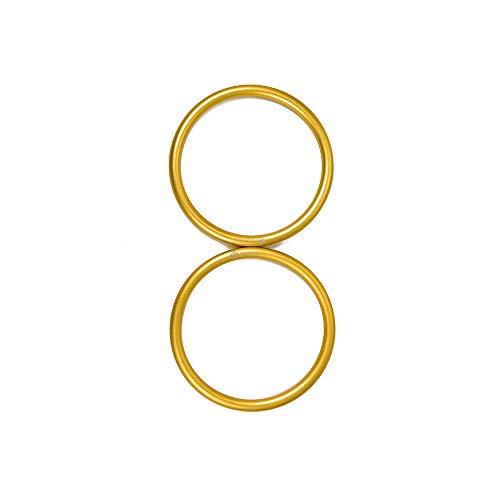 TOPIND - anelli per marsupi e fasce porta bebè in alluminio; grandi (7,6 cm), 2pezzi, color oro