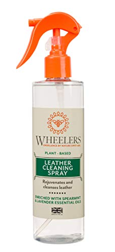 Wheelers Natural Leather Cleaning Spray, 300ml | Cleanses, Refreshes & Rejuvenates Leather | Natural Plant-Based Ingredients Clear WHE/06004/A