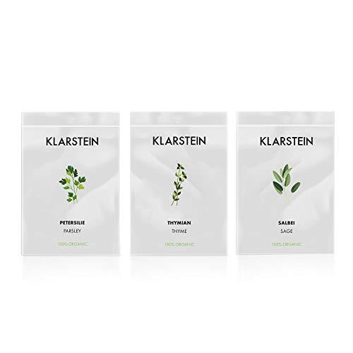 Klarstein GrowIt Seeds Europe - 3 sachets de graines, Thym, Sauge, Persil