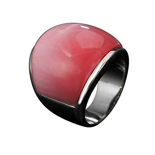 Ubestlove Imitation Diamond Ring Vintage Large Gemstone Ring Rings Faux Diamond Ring Jewellery Fashion Ring Pink P 1/2