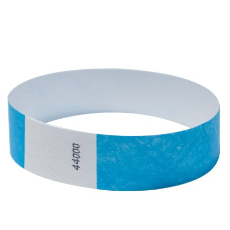 """EventWristbands Premium 3/4"""" Tyvek Wristbands (100 Count, Bright Blue) - Red, Green, Blue, Yellow & Orange Colored Event Wristband Paper Bracelets - Neon Wrist Bands for Festivals"""